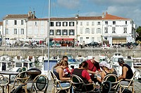 The port. La Flotte village. Ré island. Charente Maritime. France.