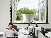 Man alone in office