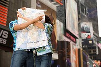 Couple with a map