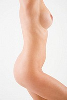 Profile of a naked woman
