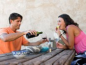 Couple having wine (thumbnail)