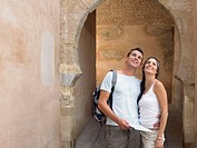 Couple sightseeing  El Albaicin quarter  Granada  Andalusia  spain
