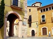 Town Hall in Plaça del Pou, Altafulla. Tarragona province, Catalonia, Spain