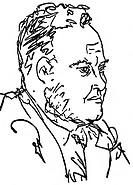 Thorez, Maurice, 28 4 1900 - 11 7 1964, frz Politiker PCF, Porträt, Profil, Zeichnung von Pablo Picasso, 1930er Jahre, Kunst, hist,