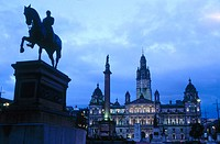 City Hall, opened by Queen Victoria in 1888. George Square. Glasgow. Scotland. Britain. UK