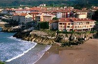 Llanes village. Sablon beach. Asturias. Spain