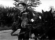 Film, ´Die Mädels vom Immenhof´, BRD 1955, Regie: Wolfgang Schleif, Szene mit: Angelika Meissner, Komödie, nach Roman von Ursula Bruns ´Dick und Dalli...