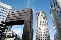 Office buildings in Rotterdam, Stationsplein, Holland, Netherlands