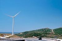 Spain, Andalusia, Tarifa, coast, wind-strength-installation, wind Iberica
