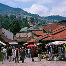 Bosnia and Hercegovina, Sarajevo, old part of town, Bascarsija, models no release, Balkan peninsula, economy, tourism, alley, tourists, capital, purch...