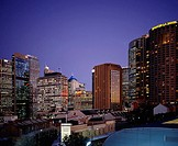 Australia, Sydney, city-opinion, Circular Quay, twilight, New South Wales, city, city, high-rises, office buildings, hotels, architecture, destination...