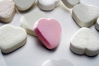 Sugar-hearts, white, pink, candies, candies, douche-candies, douche, sugar, hearts, sweetly, sugar-sweetly, eats candy, unhealthily, calories, symbol,...