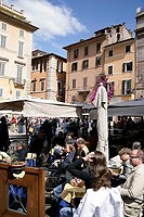 Italy, Rome, piazza della Rotonda, street-cafes, tourists,