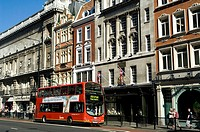 Great Britain, England, London, Piccadilly Street, Häuserzeile, passers-by, biplane-bus, Europe, city, capital, district, houses, buildings, architect...