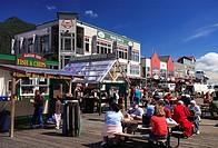 USA, Alaska, Alexander-archipelago, Revillagigedo Iceland, Ketchikan, downtown, snack, street-cafe, no mr, North America, southeast-Alaska, southeast,...
