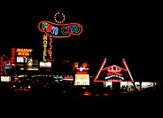 USA, Nevada, Las Vegas, Spielcasinos, neon signs, night, series, North America, West coast, city, player-city, amusement-center, Casinos, hotels, sigh...