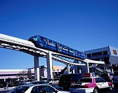 USA, Nevada, Las Vegas, Monorail, North America, West coast, city, player-city, rail-traffic, means of transportation publicly, track, train, local tr...