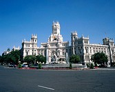 View of La Cibeles fountain. Madrid. Spain