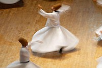 Whirling dervishes, Konya. Central Anatolia, Turkey