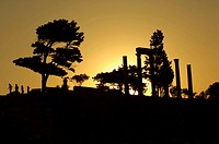 Sunset at the Byblos fortress in Lebanon