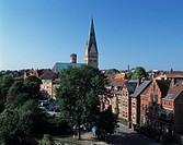Luneburg, Saint Johannes, church, water tower, town look, Ilmenau, Germany, Europe, Lower Saxony