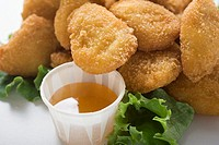 Chicken Nuggets with sweet and sour sauce