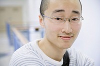 Close up of young Asian man