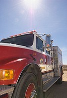 Fire truck in sunlight