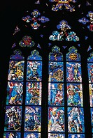 Czech Republic, Prague, Saint Vitus Cathedral, stained glass