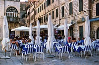 Croatia, Dubrovnik, Old Town, Placa, Plaza Stradun, Restaurant