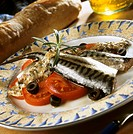 Marinated mackerel with mustard sauce