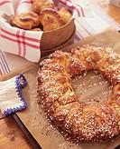 Sweet bread wreath