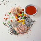 Sprinkles and sweets for decorating baking