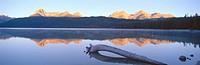 Sunrise over Redfish Lake and Sawtooth Mountains