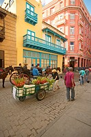 A flower cart in Old Havana