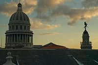 Morning light on the Capitolio, the Cuban capitol building