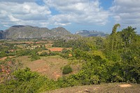 Tropical view of the Valle de Viñales central Cuba