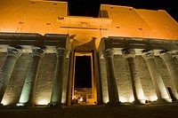 Temple of Horus at night. Edfu. Egypt.