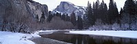 Half Dome and Merced River In Winter, Yosemite National Park