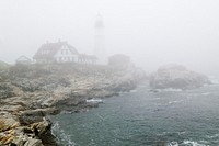 Fog shrouds the Lighthouse