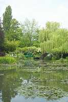 The Gardens at Giverny with Monet's Bridge