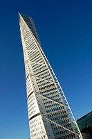 Turning Torso building is part of a huge project to revitalize the city's port and waterfront. Malmö, Skåne. Sweden