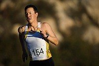 Athlete Running in a Triathlon (thumbnail)