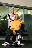 Senior Couple at a Health Club