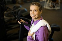 Woman at a Health Club