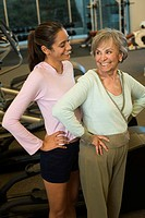 Mother and Daughter at a Health Club (thumbnail)