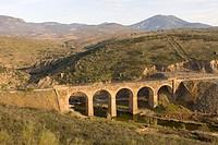 Uso river and Vía Verde de La Jara. El Campillo de La Jara. Toledo. Castilla-La Mancha, Spain