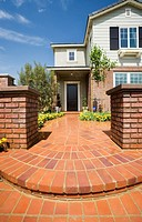 Brick Walkway Leading to Front Door
