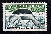 Lamantin, postage stamp, Republic Niger, 1970-s