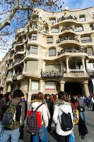 Barcelona. Casa Milà. ´La Pedrera´. Antoni Gaudí.